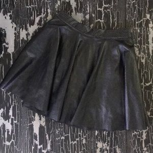 NWT Perforated Leather Skirt